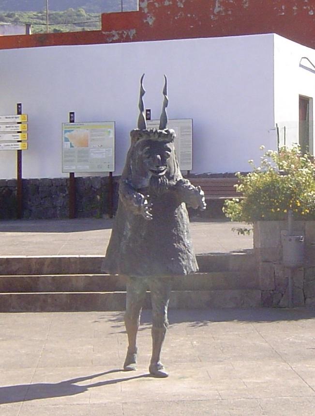 Teufelsfigur in El Palmar