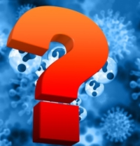 Fragezeichen vor Corona-Bakterium