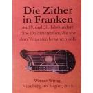 Die Zither in Franken im 19. und 20. Jahrhundert