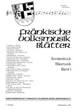 Fränkische Volksmusikblätter Band 1