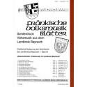 Fränkische Volksmusik Blätter Band 4. Sonderdruck Volksmusik aus dem Landkreis Bayreuth