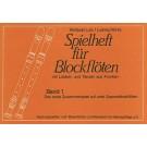 Spielheft für Blockflöten 1